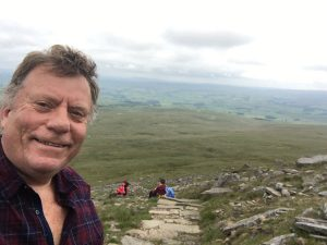 Chris Carr on Ingleborough Hill