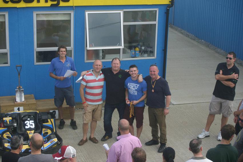 stuart ridd-jones and go karting team