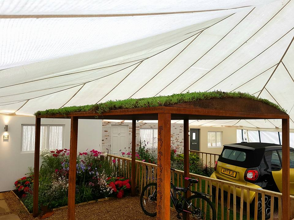 green roof car port