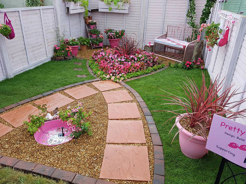 pretty in pink garden design