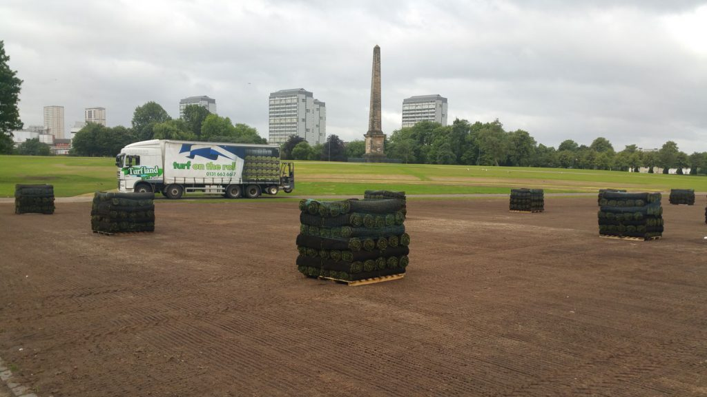 harrowden turf at Glasgow Green