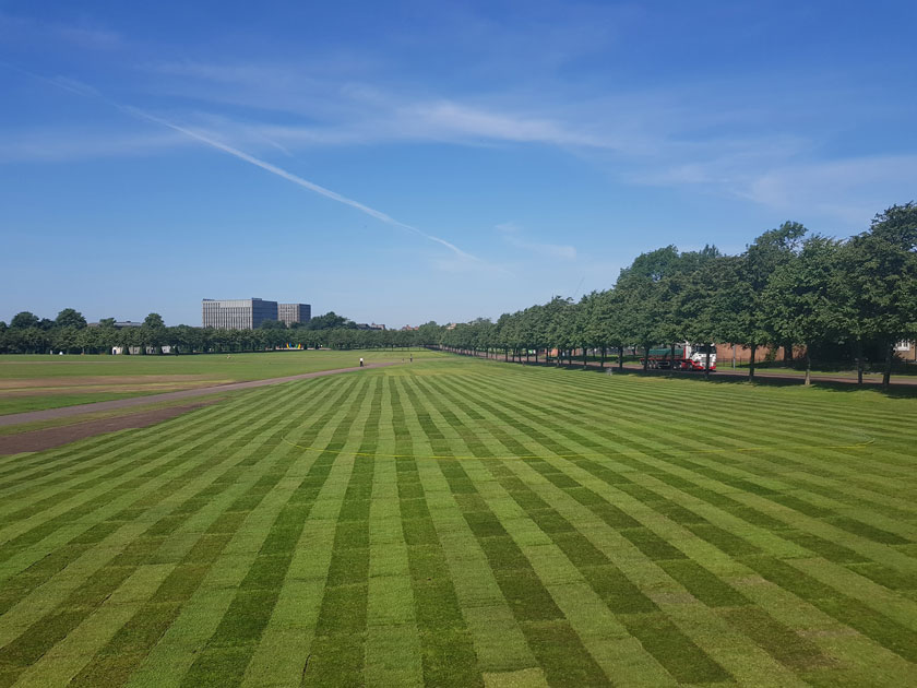 striped turf glasgow green
